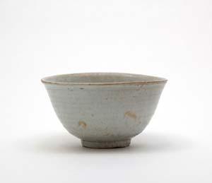 李朝白磁(堅手)茶碗