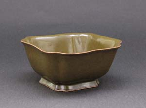 蕎麦釉角切鉢(中国 清時代)