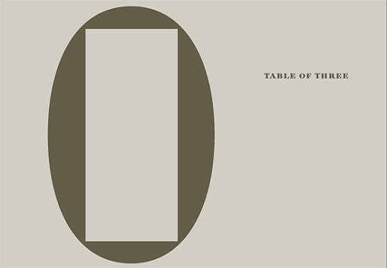 小林正人 牧嶋タケシ 杉戸洋 「TABLE OF THREE」